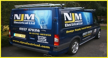 Fully Qualified Bromsgrove Based Electricians, NJM Electrical Ltd